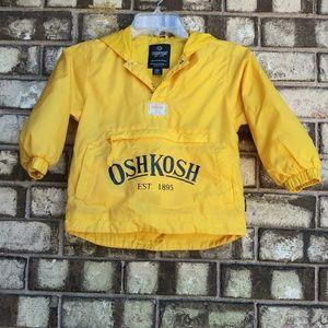 Oshkosh yellow rain jacket/wind-breaker size 4/5